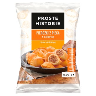 Proste Historie Dumplings from Oven with Beef 400 g (16 Pieces)