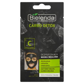 Bielenda Carbo Detox Cleansing Carbon Mask Mixed and Oily Skin 8 g
