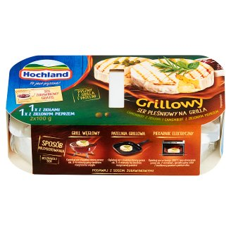 Hochland Grill Camembert Cheese with Herbs and Green Pepper and Sauce 265 g (2 x 100 g + 65 g)