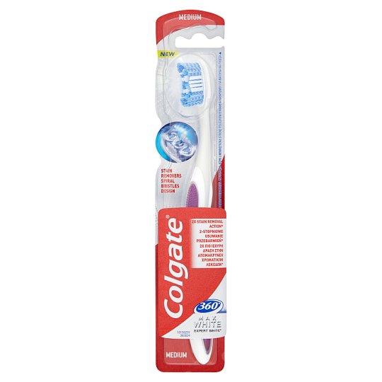 Colgate 360° Max White Expert White Szczoteczka do zębów Średnia