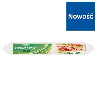 Tesco Sandwich Paper Sheets 29.5 cm x 23 cm 50 Pieces