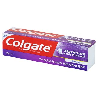 Colgate Maximum Cavity Protection Whitening Toothpaste with Fluoride and Calcium 75 ml