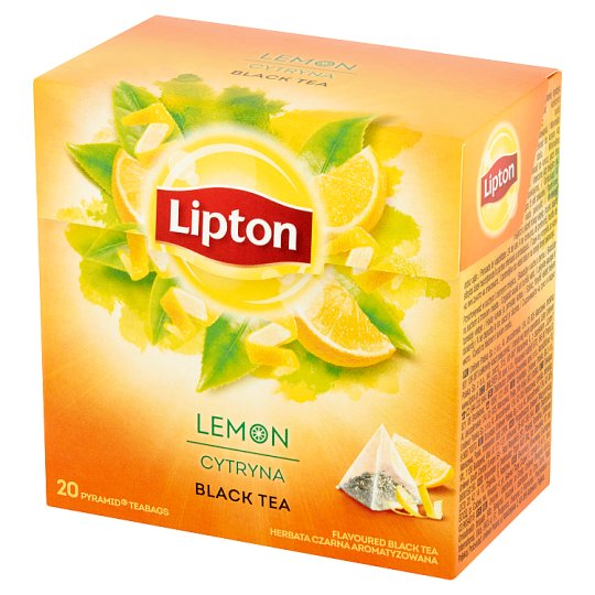 Lipton Lemon Flavoured Black Tea 34 g (20 Tea Bags)