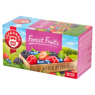 Teekanne World of Fruits Forest Fruits Flavoured Fruit Tea 50 g (20 Tea Bags)