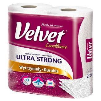 Velvet Excellence Absorbent Sponges Paper Towel 2 Rolls