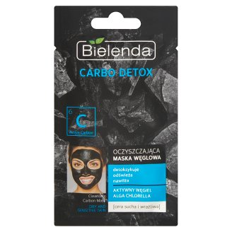 Bielenda Carbo Detox Cleansing Carbon Mask Dry and Sensitive Skin 8 g