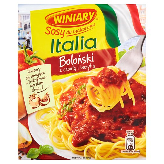 Winiary Sosy do makaronu Italia Sos boloński z cebulą i bazylią 46 g