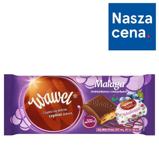 Wawel Cream Malaga with Raisins Filled Chocolate 100 g