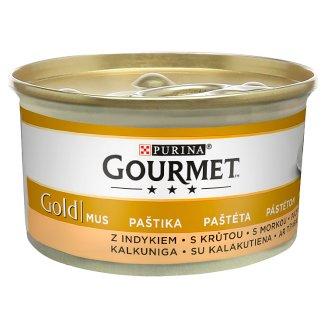 Gourmet Gold Pełnoporcjowa karma dla dorosłych kotów mus z indykiem 85 g