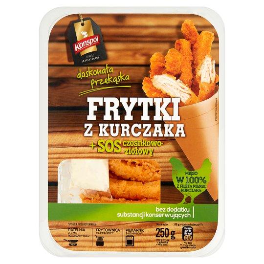 Konspol Frytki z kurczaka + sos czosnkowo-ziołowy 250 g