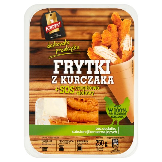 Konspol Chicken Fries + Garlic-Herbal Sauce 250 g