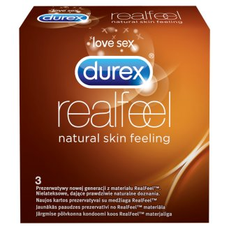 Durex Real Feel Condoms 3 Pieces