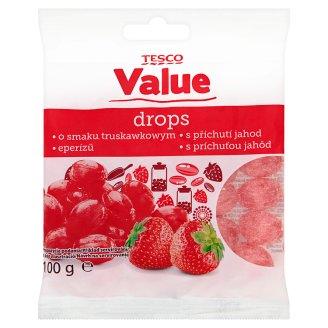 Tesco Value Strawberry Flavoured Candies 100 g
