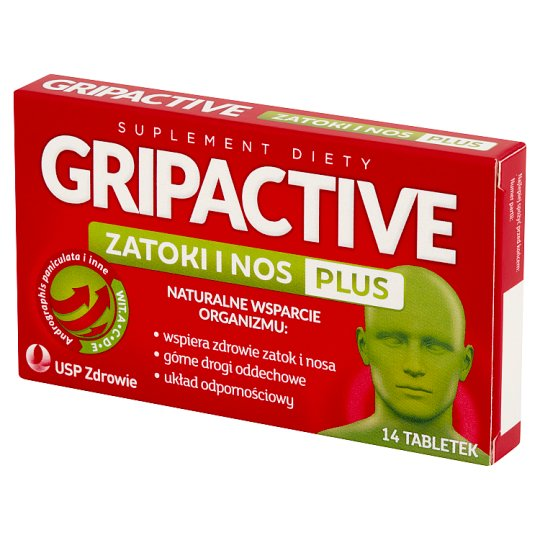 Gripactive Sinus and Nose Plus Dietary Supplement 14 Tablets