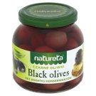 Natureta Czarne oliwki z pestką 290 g