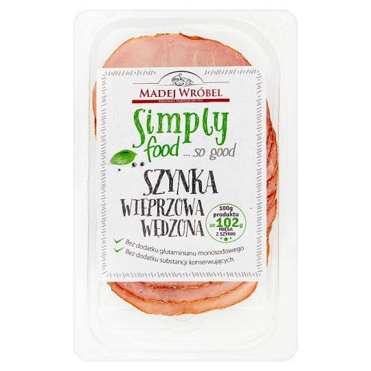 Madej Wróbel Simply food... so good Smoked Pork Ham 100 g