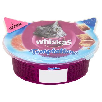 Whiskas Temptations Supplementary Food for Cats with Salmon 60 g
