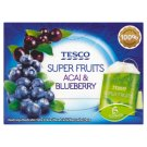 Tesco Super Fruits Acai & Blueberry Herbata biała 22,5 g (15 torebek)