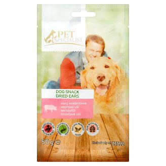 Tesco Pet Specialist Dried Pork Ears in Pieces Fodder Material for Adult Dogs 50 g
