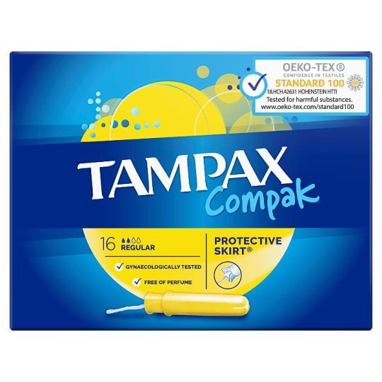 Tampax Compak Regular Applicator Tampons 16 X