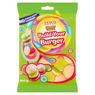 Tesco Candy Carnival Build Your Burger Fruit Flavoured Jellies 100 g