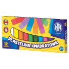 Astra Square Plasticine 12 Colours
