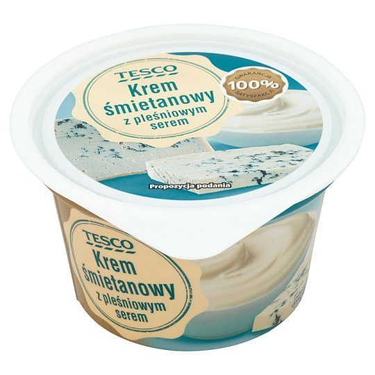 Tesco Cream Custard with Blue Cheese 150 g