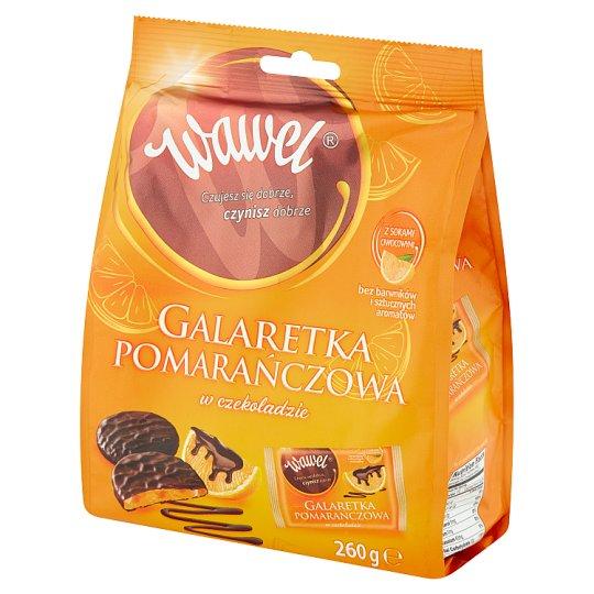 Wawel Chocolate Coated Jelly Orange Sweets 260 g