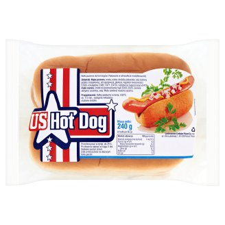US Hot Dog Rolls 240 g (4 Pieces)