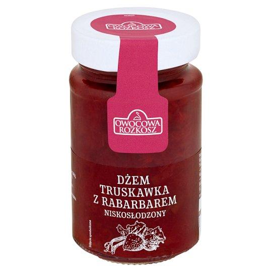 Owocowa Rozkosz Low Sugar Strawberry and Rhubarb Jam 250 g