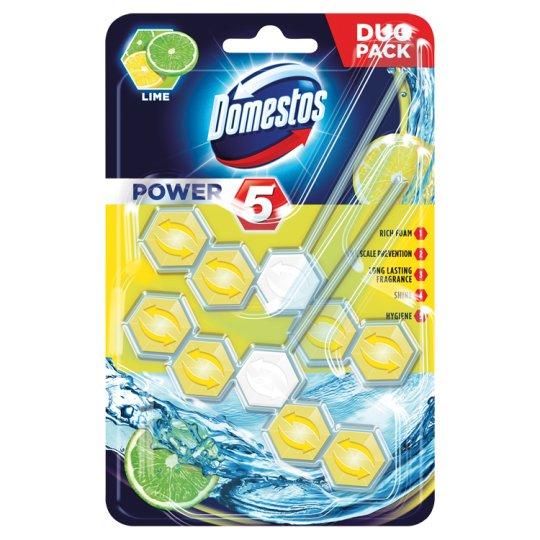 Domestos Power 5 Lime Toilet Block 2 x 55 g