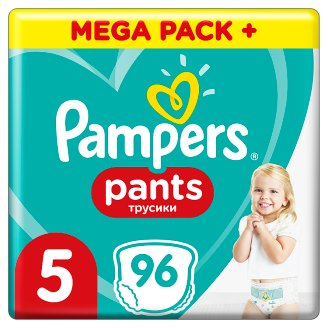 Pampers Pants Size 5, 96 Nappies, 11-18kg, Absorbing Channels