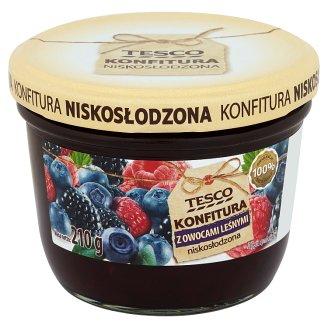 Tesco Konfitura z owocami leśnymi niskosłodzona 210 g