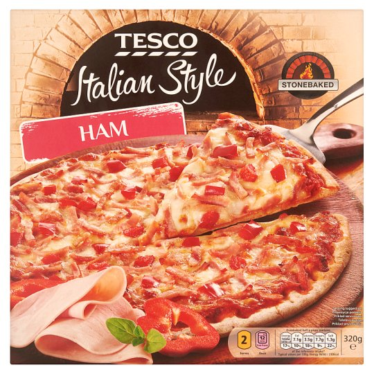 Tesco Italian Style Ham Pizza 320 g