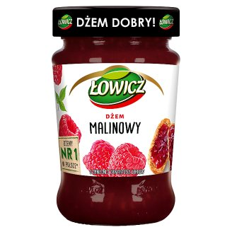Łowicz Low Sugar Raspberry Jam 280 g