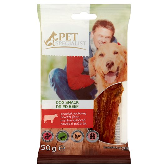 Tesco Pet Specialist Dried Beef Esophagus in Pieces Fodder Material for Adult Dogs 50 g