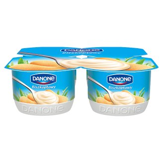 Danone Biscuit Flavour Cream Yoghurt 480 g (4 Pieces)