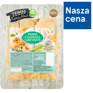Tesco Express Menu! Dumplings with Sauerkraut and Mushrooms 400 g
