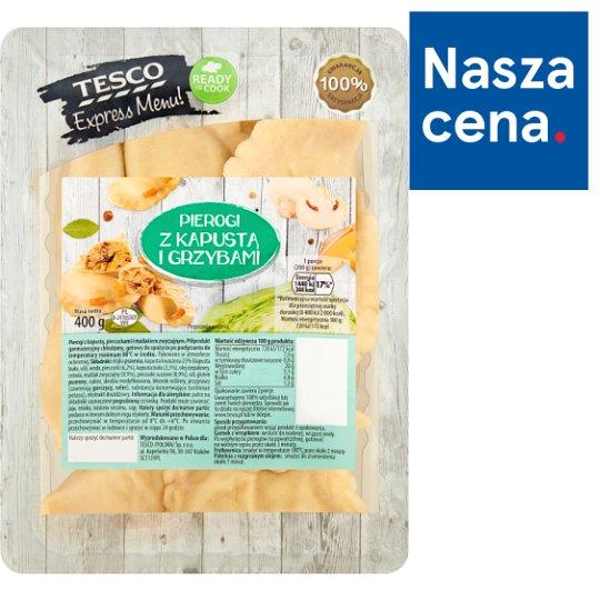 Tesco Express Menu! Dumplings with Sauerkraut and Mushrooms 400 g