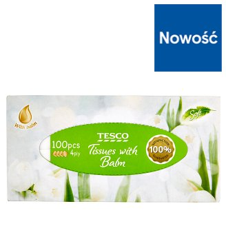Tesco Tissues with Balm 100 Pieces