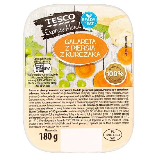 Tesco Express Menu! Jelly with Chicken Breast 180 g