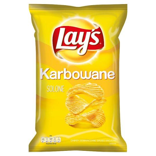 Lay's Karbowane Solone Chipsy ziemniaczane 150 g