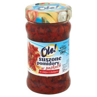 Ole! Suszone pomidory w oleju z ziołami w paskach 270 g