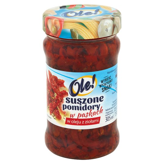 Ole! Dried Tomatoes in Oil with Herbs in Stripes 270 g