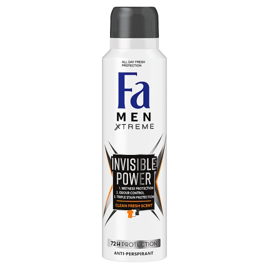 Fa Men Xtreme Invisible Power Antyperspirant w sprayu 150 ml