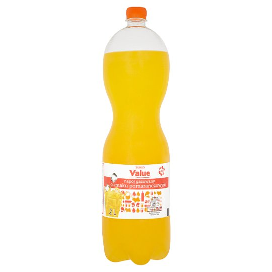 Tesco Value Orange Flavour Carbonated Drink 2 L