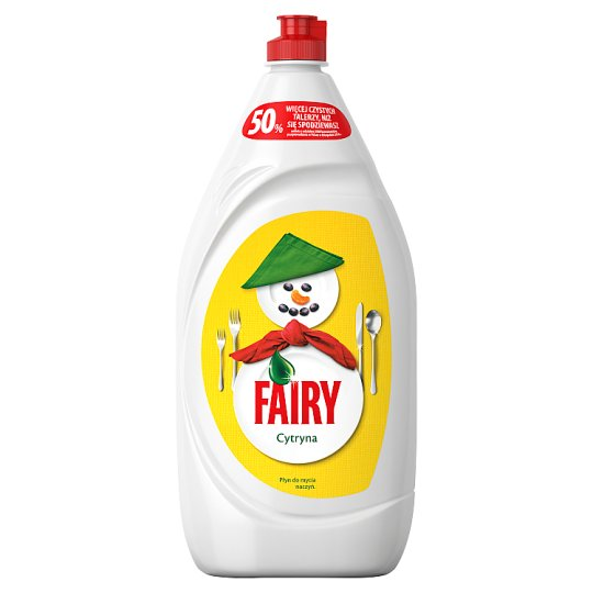 Fairy Lemon Washing Up Liquid No Soaking, No Grease, No Fuss 1350ML