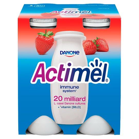 Danone Actimel Strawberry Fermented Milk 400 g (4 x 100 g)