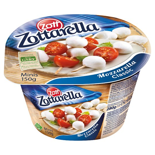 Zott Zottarella Classic Minis Mozzarella Cheese 150 g