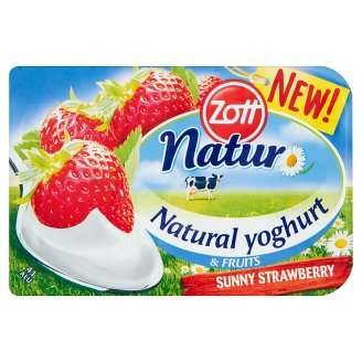 Zott Natur Sunny Strawberry Natural Yoghurt & Fruits 115 g